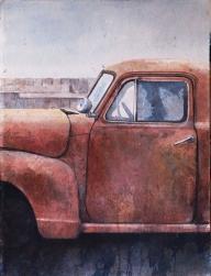 red chevy truck, minnesota